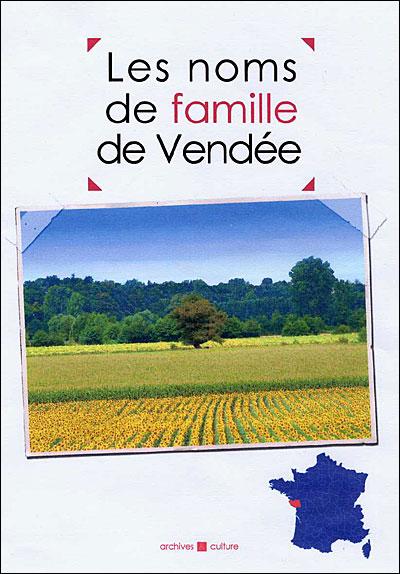 Livre Noms de famille de Vendée